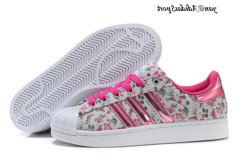 super popular abe33 e5a12 Mode Adidas Superstar Femme Fleur Grossiste Tea378
