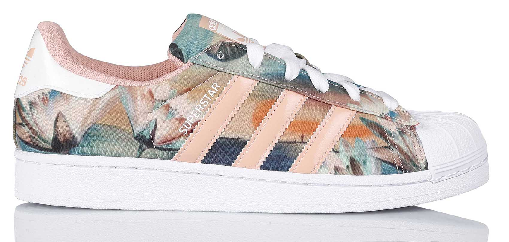 new product c827a d7917 Mode Adidas Superstar Femme Fleur Grossiste Tea384