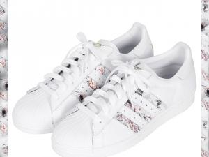 sports shoes 28fe4 295aa Mode Adidas Superstar Femme Fleur Grossiste Tea389