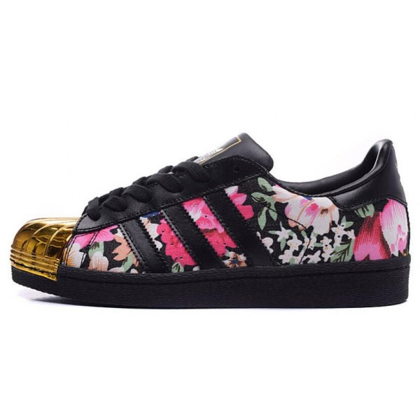 the latest cf329 2d9d1 Mode Adidas Superstar Femme Fleur Grossiste Tea390