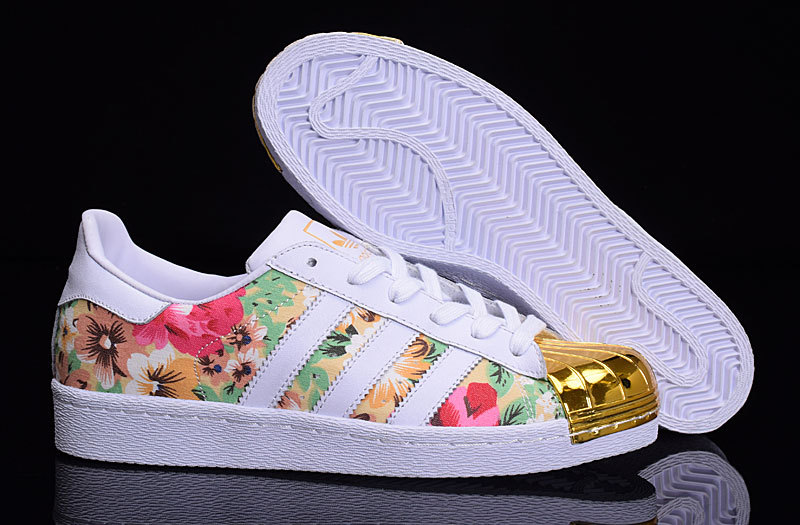 sports shoes 9cb16 757ab Mode Adidas Superstar Femme Fleur Grossiste Tea391