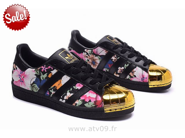 free shipping 24314 98a1e Mode Adidas Superstar Femme Fleur Grossiste Tea398