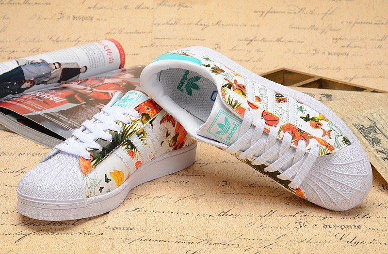 buy popular 5c59f d3506 Mode Adidas Superstar Femme Fleur Grossiste Tea401