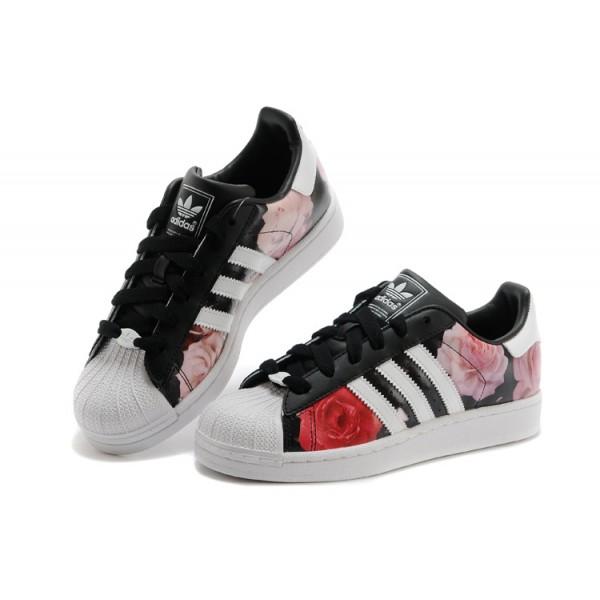 quite nice 9bd08 887af Mode Adidas Superstar Femme Fleur Grossiste Tea403