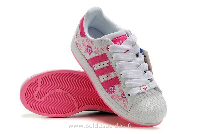wholesale dealer 17795 6b585 Mode Adidas Superstar Femme Fleur Grossiste Tea405