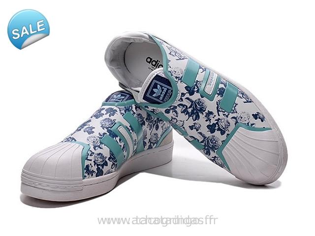 meet f8359 0b16c Mode Adidas Superstar Femme Fleur Grossiste Tea407