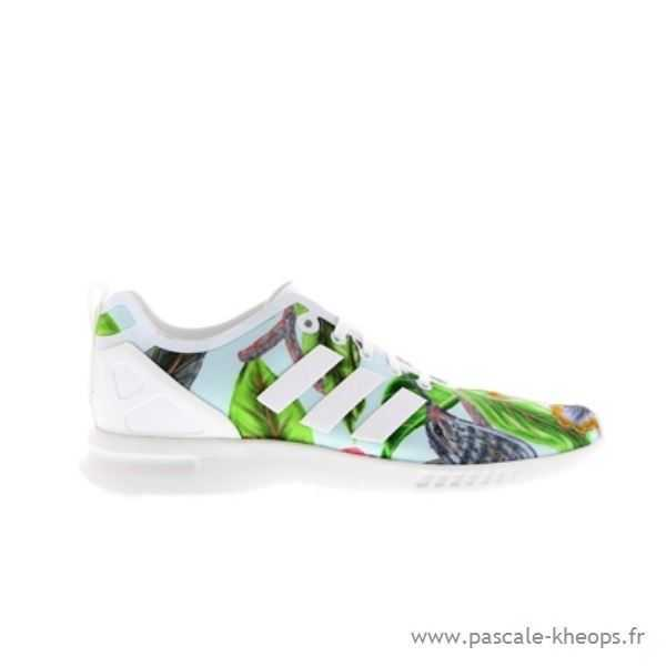 super popular 6faf5 96d8a Chaussures Adidas Zx Flux Femme Fleur Grossiste Tang340