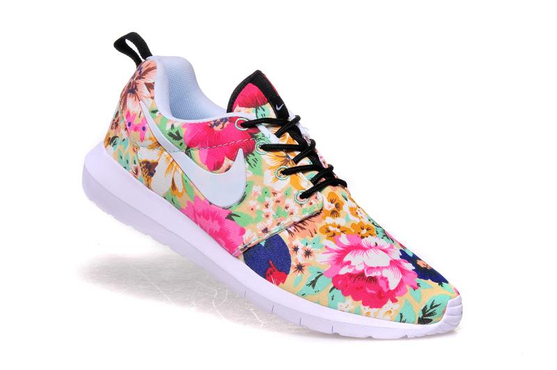 finest selection c50c9 d1dab Vente Chaude Nike Roshe Run Femme Fleur Prix Usine Jing454